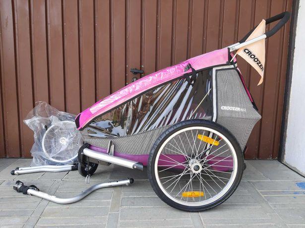 Przyczepka rowerowa Croozer Kid 1 Pink 3w1