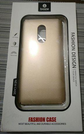 Чехол бампер biaze Xiaomi redmi note 4x золотой с кольцом