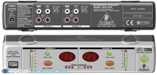 beat 800 behringer contador rpm phono