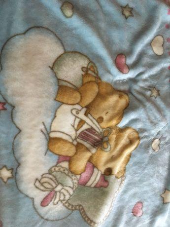 Koc polarowy smoczki Avent prześcieradło do łóżeczka