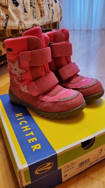 Зимние сапоги ботинки девочке Richter 26размер