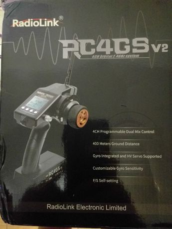 Радиоаппаратура RadioLink RC4GS 2.4G 4CH 400M с приёмником R6Fg Gyro