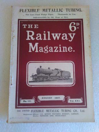 Antiga Revista de Comboios The Railway Magazine 1907