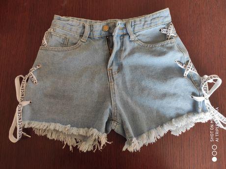 Spodenki damskie krótkie dżinsowe szorty