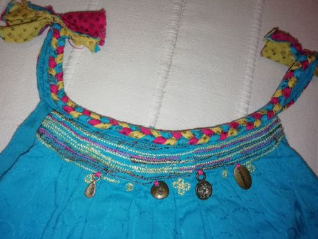Vestido CATIMINI de menina azul turquesa