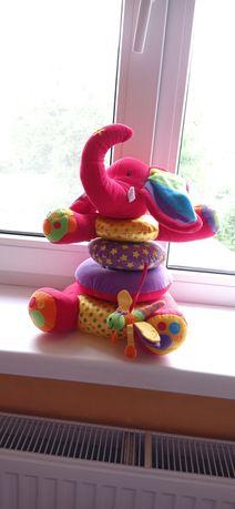 Мягкая игрушка-пирамида для малыша