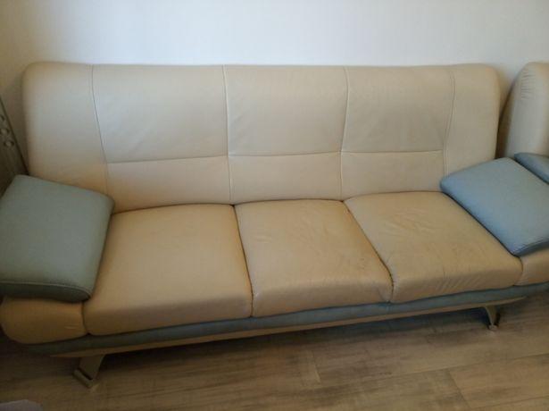 Sofa Kanapa Naturalna Skóra