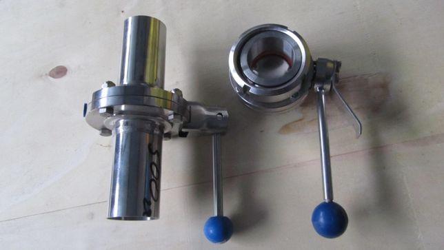 Zawory klapowe z kwasówki nowe i używane do schładzalników i dojarek.