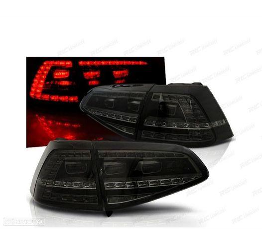 FARÓIS TRASEIROS LED VW GOLF 7 LOOK GTI 13-17 FUMADOS / ESCURECIDOS
