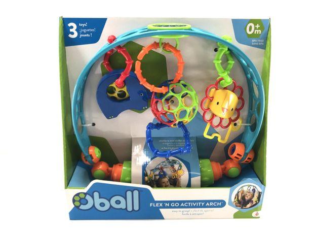 Łuk z zabawkami do wózka dziecięcego BRIGHT STARTS OBALL dziecko