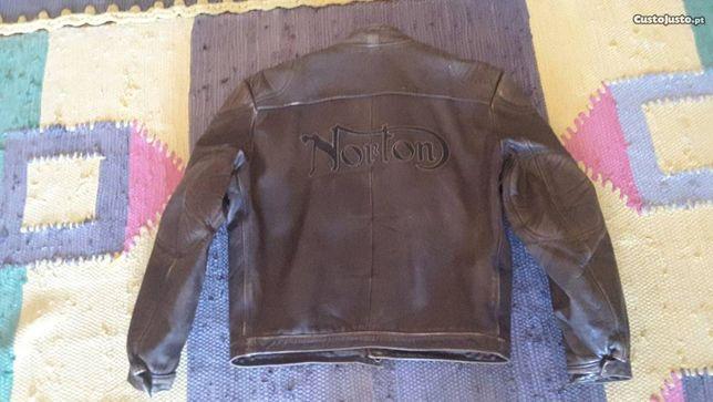 Blusão de moto em couro da Redskins NORTON