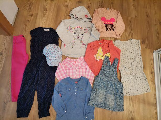 Zestaw dla dziewczynki r. 110 /9 sztuk /bluzy koszule