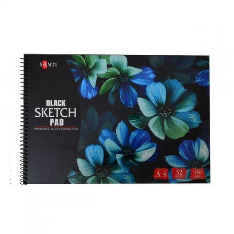 Бумага черная для рисования альбом пастели акварели карандаши А4 А3