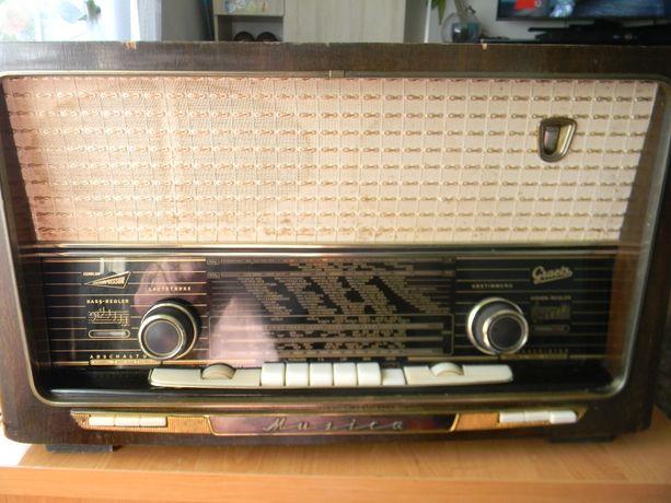 Piękne radio lampowe Graetz .