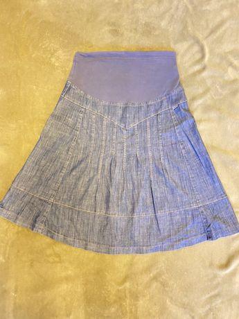 Jeansowa spódnica ciążowa, rozmiar M