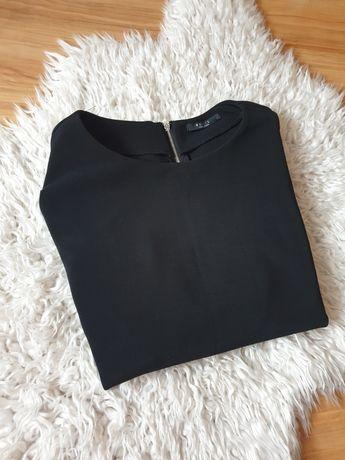 Sukienka czarna z dziurkami na pasek Mohito rozmiar 40/L