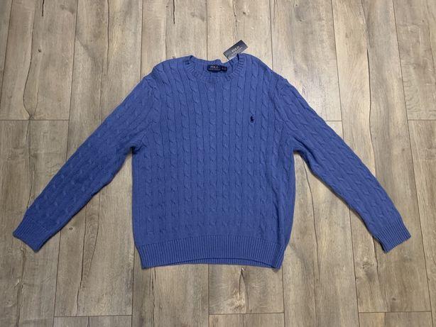 Sweter marki Polo Ralph Lauren rozmiar L niebieski