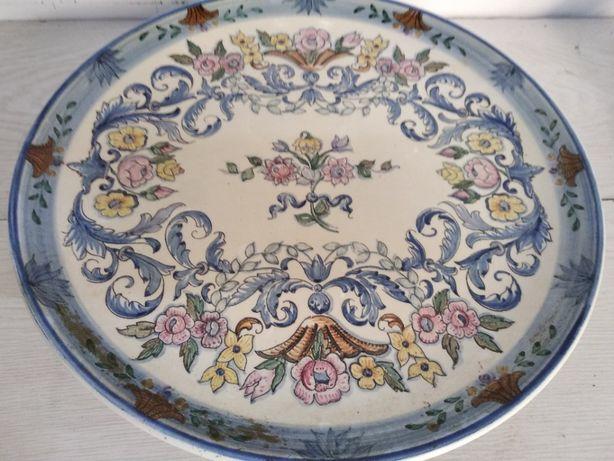Prato grande muito antigo Carvalhinho raro colecção porcelana P56