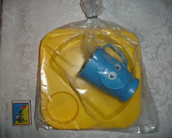 Набор/набір дитячого ігрового посуду - тарілка і кружка; НОВИЙ; ссср