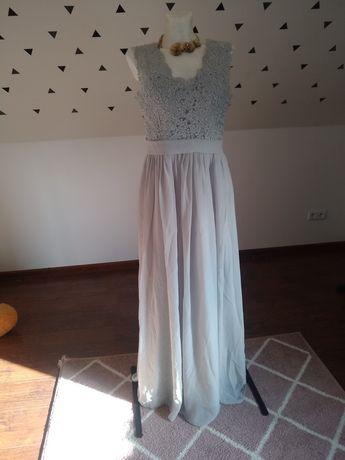 Sukienka popielata roz L