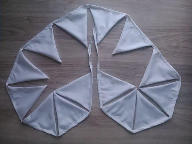 Girlanda biała x14 trójkątów