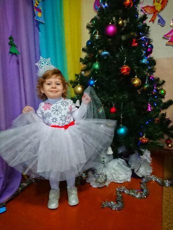 Новогоднее платье снежинка 92 размер