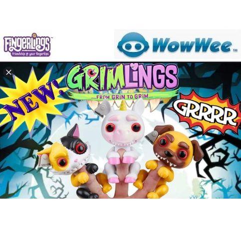 WowWee Grimlings Cat Dog Unicorn Фінгерлінгс Інтерактивна іграшка