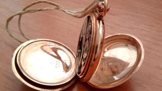 Золотые антикварные карманные часы Павел Буре ( 1890г .)