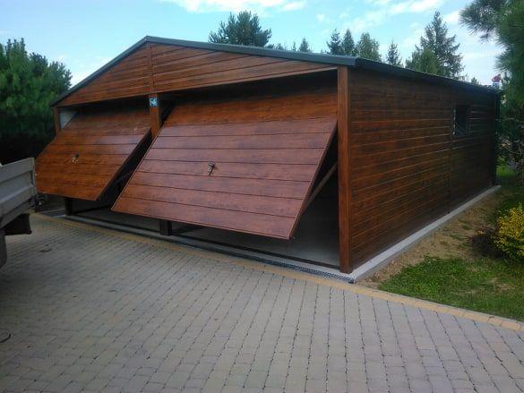 Garaż Drewnopodobny Dwuspadowy Dwustanowiskowy Bez pozwolenia