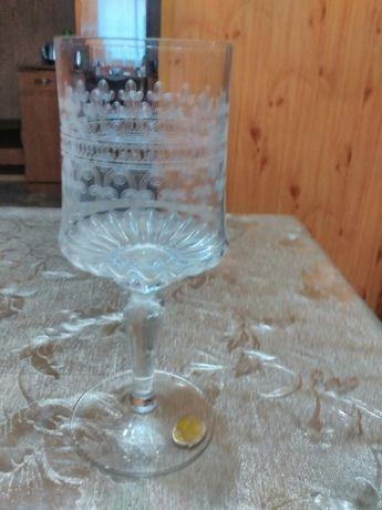 Изящные бокалы Bohemia 15 cм из тончайшего хрусталя 5 штук