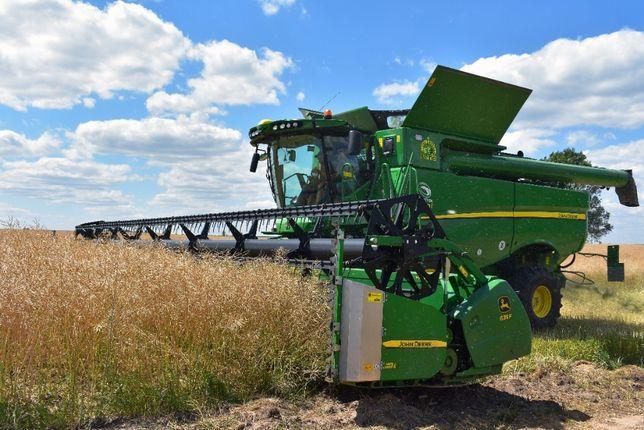 Услуги по уборке урожая поздних зерновых 2021г.