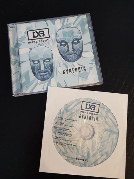 Deep x Bobson- Synergia. Mega rarytas LTD, 2CD, nowa, podpisy, Łódź.
