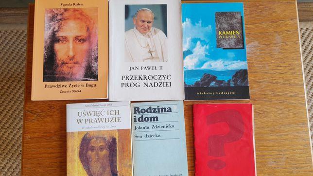 Książki religijne, Jan Paweł II, Vassula - zestaw, za kawę