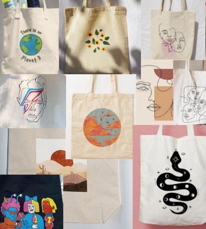 eko torba z ręcznie wykonanym rysynkiem /эко сумка (шоппер) с рисунком