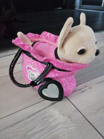 PIESEK CHI CHI LOVE w różowej torebce z lusterkiem