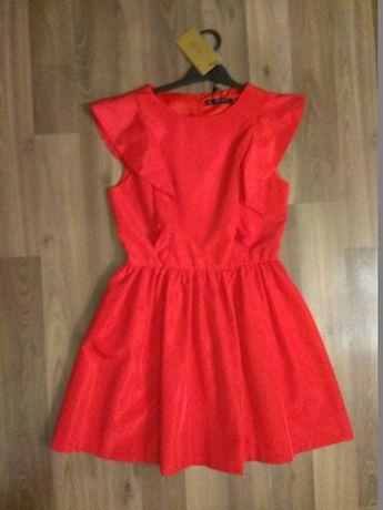 Sukienka Zara czerwona r.36 - nowa z metką - OKAZJA