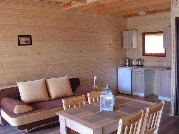 Jantar Domki drewniane, ocieplone nad morzem wolny termin od 17.09