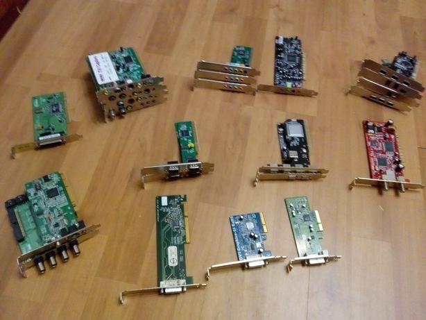 Плата PCI сетевая, звуковая, com, tv, dv, DVB-Sat и др.