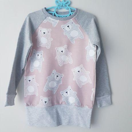 Bluza dziewczęca rozmiar 110 hand made nowa