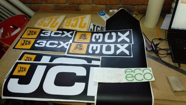 Продам наклейки JCB 531-70,105-125,3CX-4СХ, MANITOU,CAT,Linde