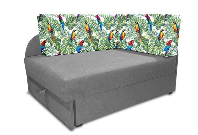 Rozkładane łóżko dziecięce, narożnik KUBUŚ, pianka 10cm, dużo kolorów