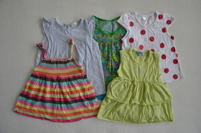 Zestaw sukienek na lato sukienka H&M rozmiar 68 - 86 6 - 12 miesięcy