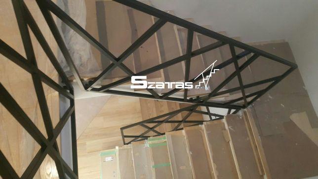 Balustrady nowoczesne Loft Industrial schody konstrukcje meble kraty