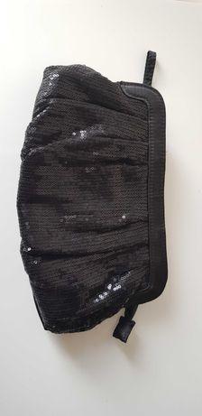 Mała torebka czarna cekinowa wysyłka gratis