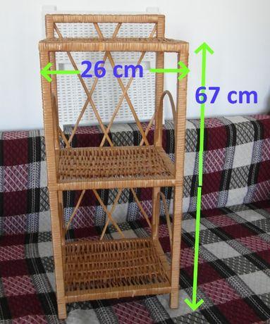 Regał wiklinowy wys. 67cm, szer. 26cm do pokoju, kuchni lub łazienki