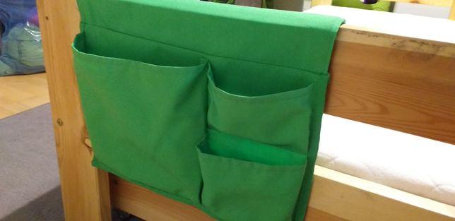 Organizer na łóżko zielony z ikea