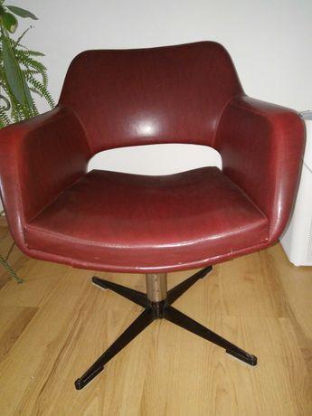 fotel obrotowy, obrotowe krzesło, lata 60-te, PRL