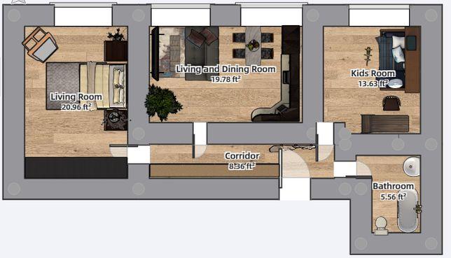 2х кімнатна квартира в розстрочку від забудовника