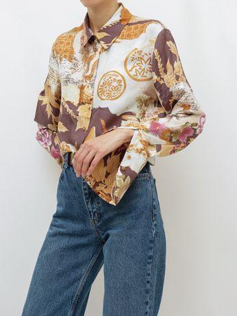 Шелковая рубашка, блуза Kenzo оригинал (gucci,burberry