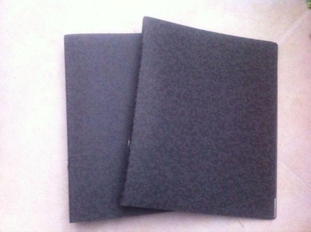 10 Dossiers pretos marmoreados lombada estreita